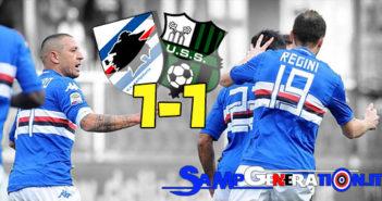 Sampdoria Sassuolo 1 1