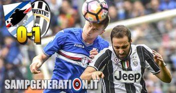 Sampdoria Juve 0 1 2017