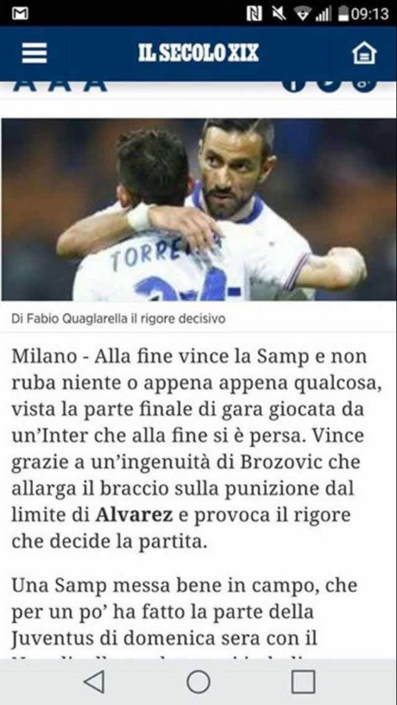 Secolo furto inter samp