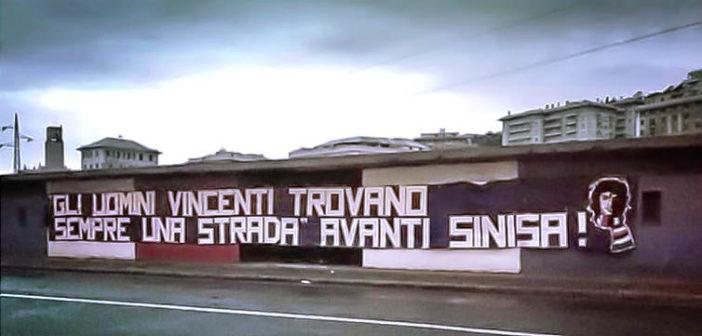 """""""I VINCENTI TROVANO SEMPRE UNA STRADA: AVANTI SINISA!"""" STRISCIONE DEGLI ULTRAS"""
